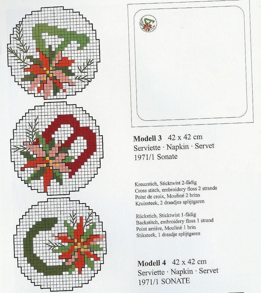 Alfabeto Natale rotondo punto croce gratis (1)