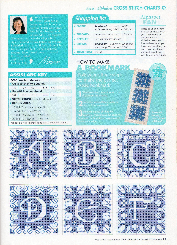 Alfabeto elegante blu schema punto croce (1)