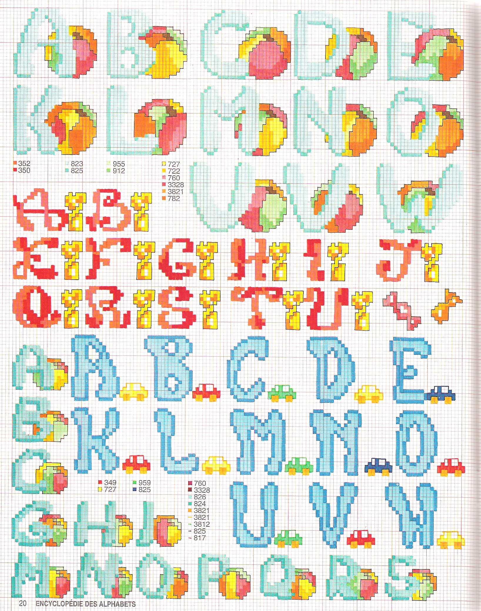 Alfabeto punto croce stampatello per bambini 1 for Alfabeti a punto croce per bambini