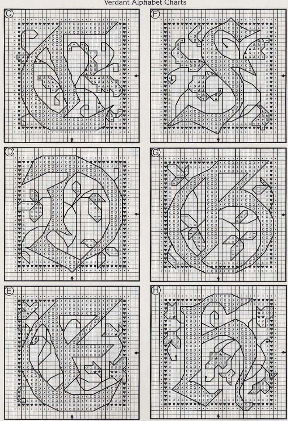 Alfabeto schema punto croce fantasy (2)