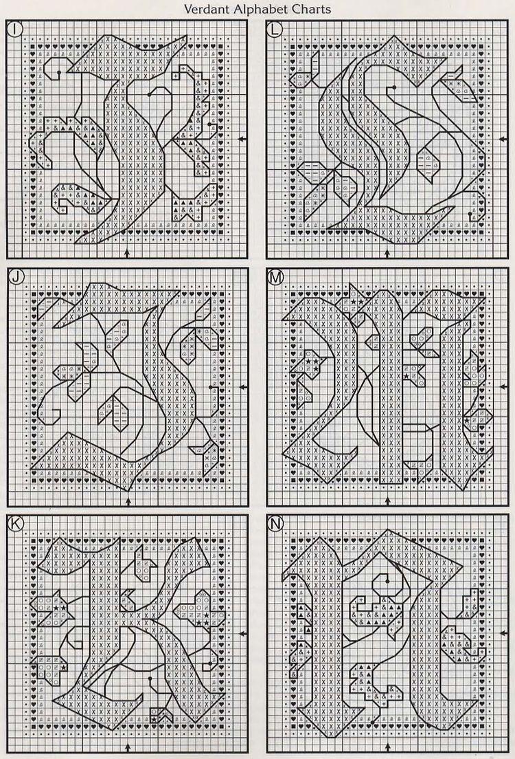 Alfabeto schema punto croce fantasy (3)