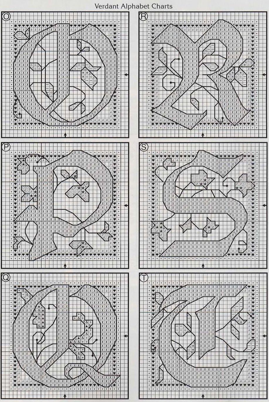 Alfabeto schema punto croce fantasy (4)