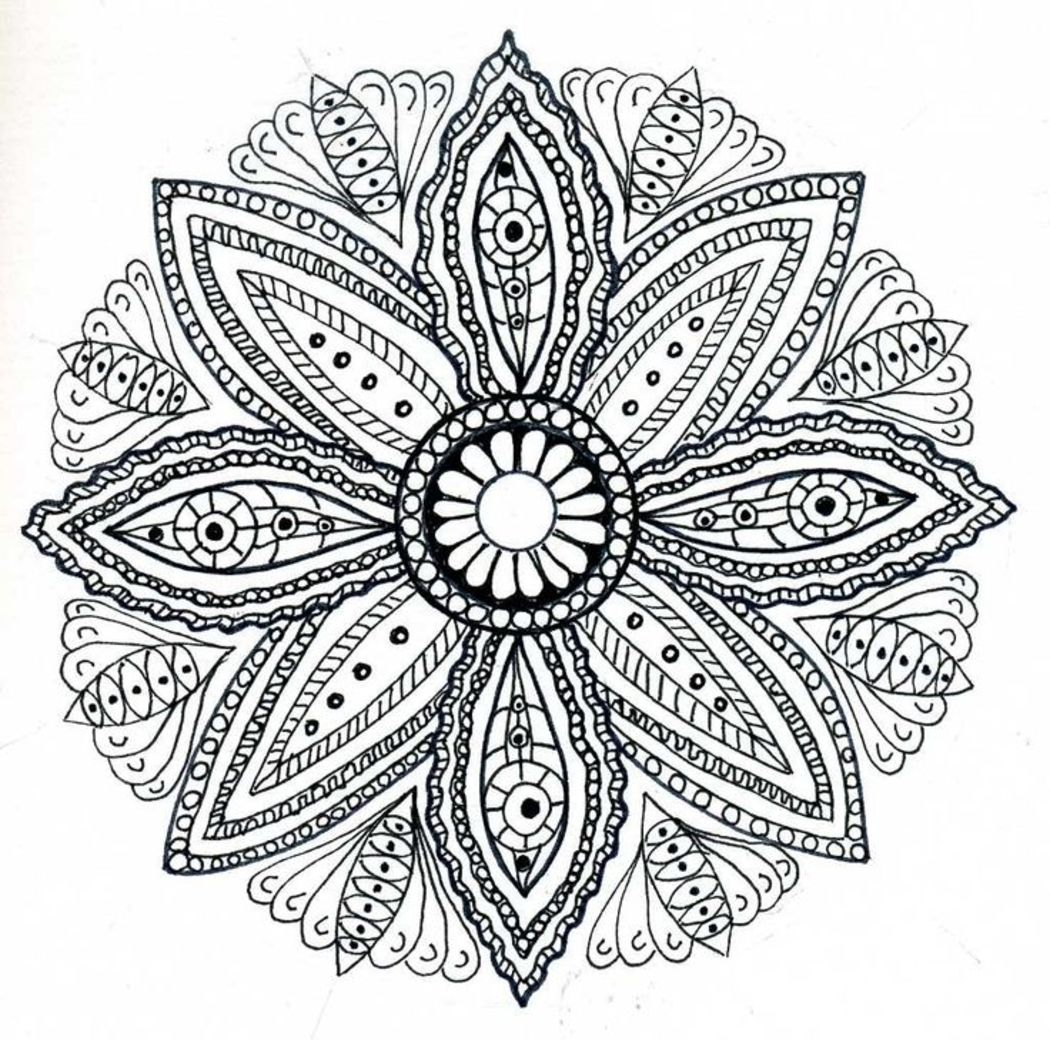 Disegni Da Colorare Antistress Per Adulti Mandala