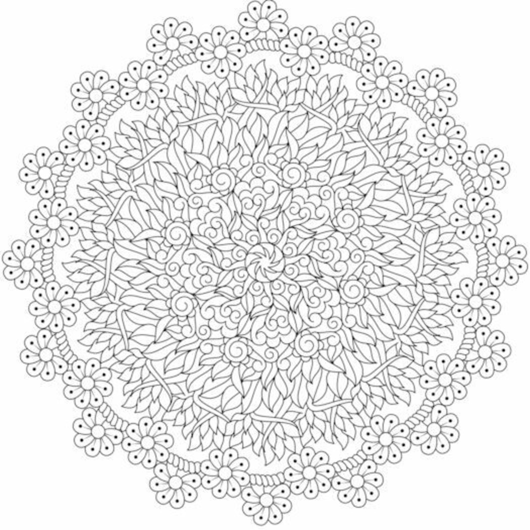 Ben noto Disegni da Colorare difficili per adulti mandala GZ18