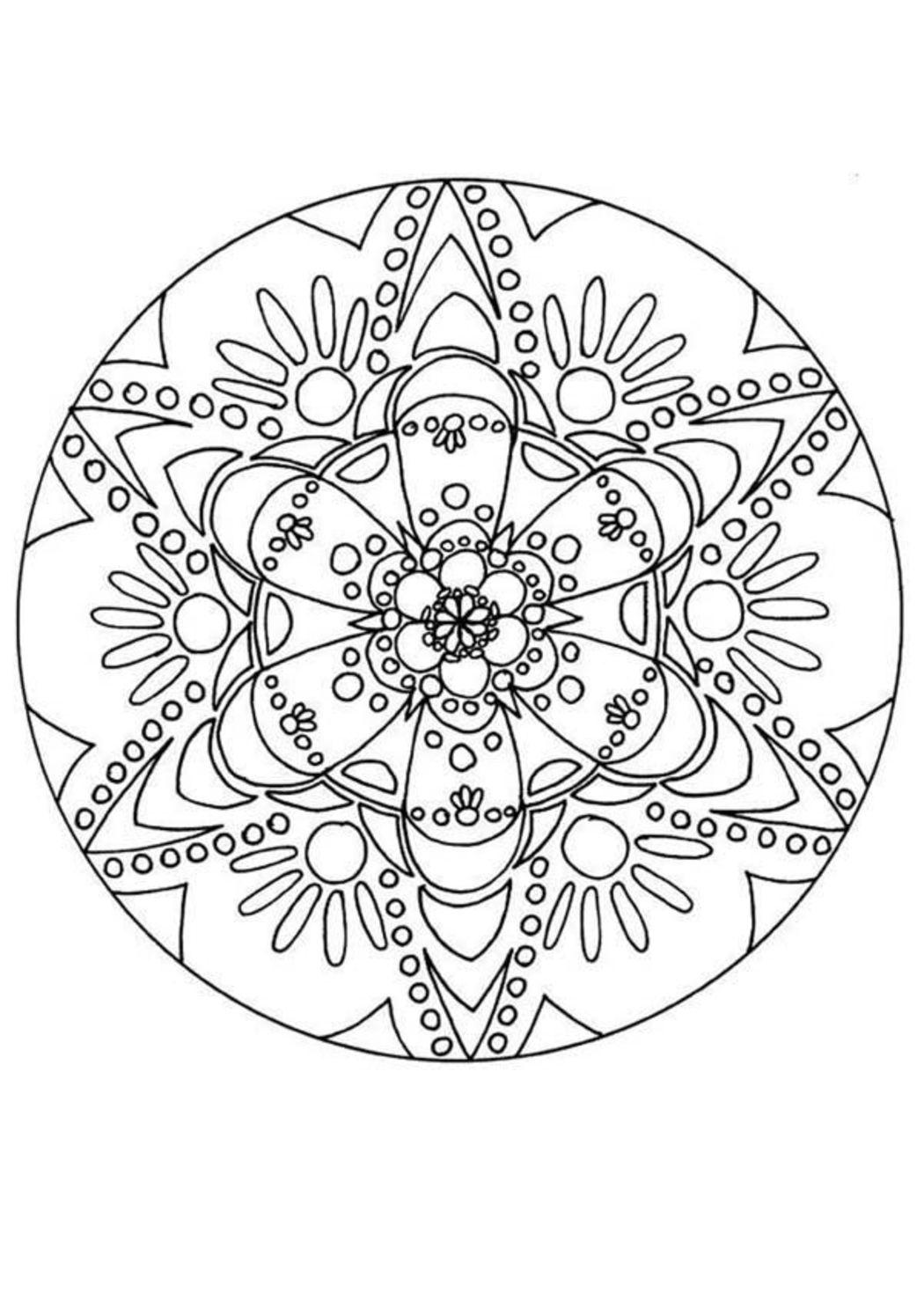 Disegni Da Colorare Geometrici Per Adulti Mandala 6428