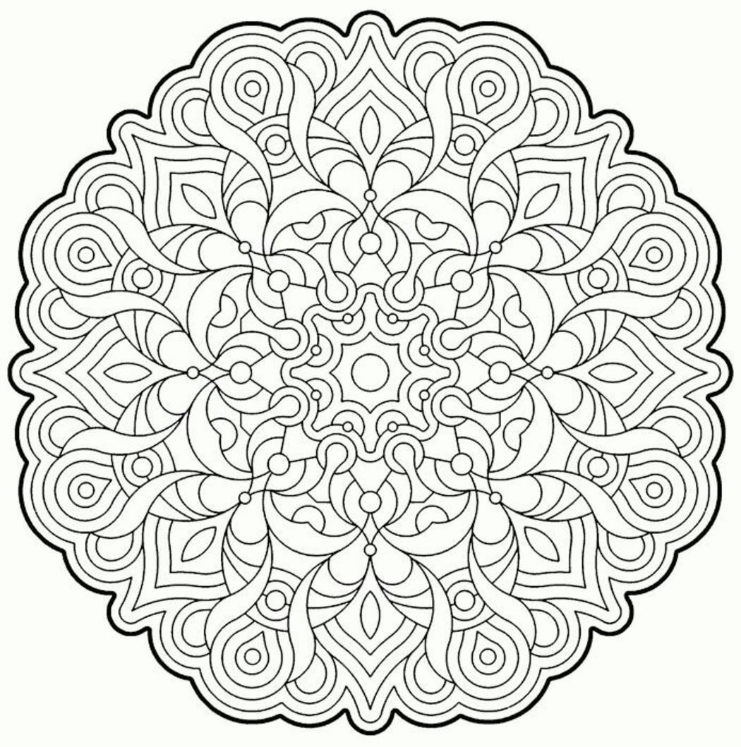 Disegni Di Natale Da Colorare Per Adulti.Disegni Da Colorare Per Adulti Mandala 6133