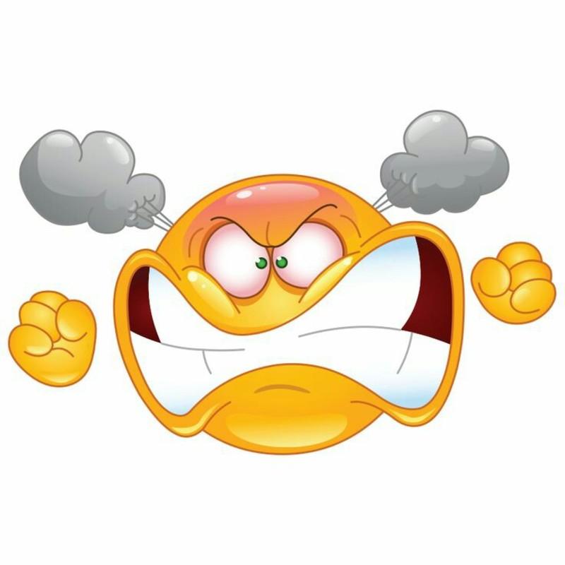 Furioso arrabbiato bellissime immagini emoticon sorrisi