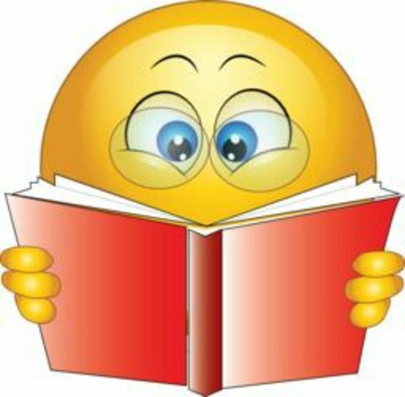 Leggo un libro immagini emoticon sorrisi WhatsApp