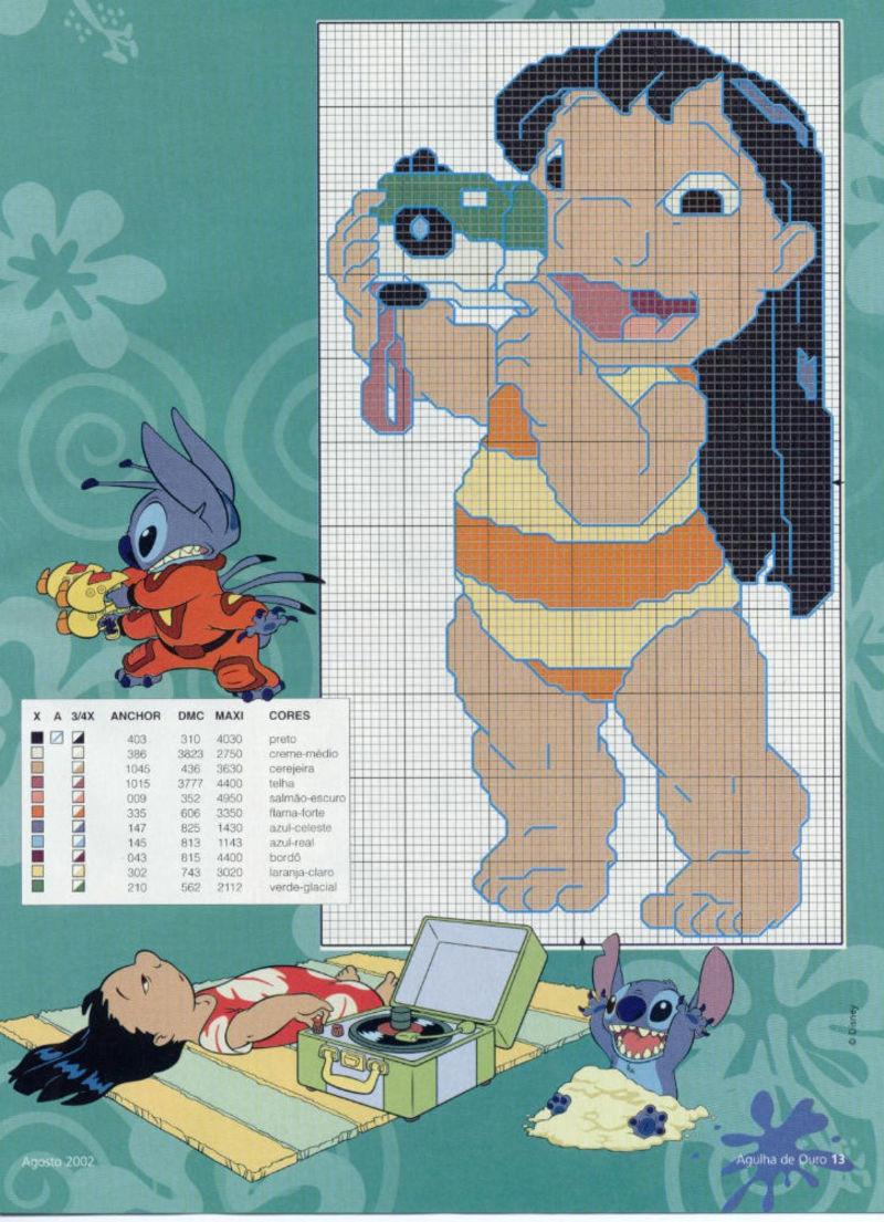 Lilo & Stitch schemi punto croce belli (1)