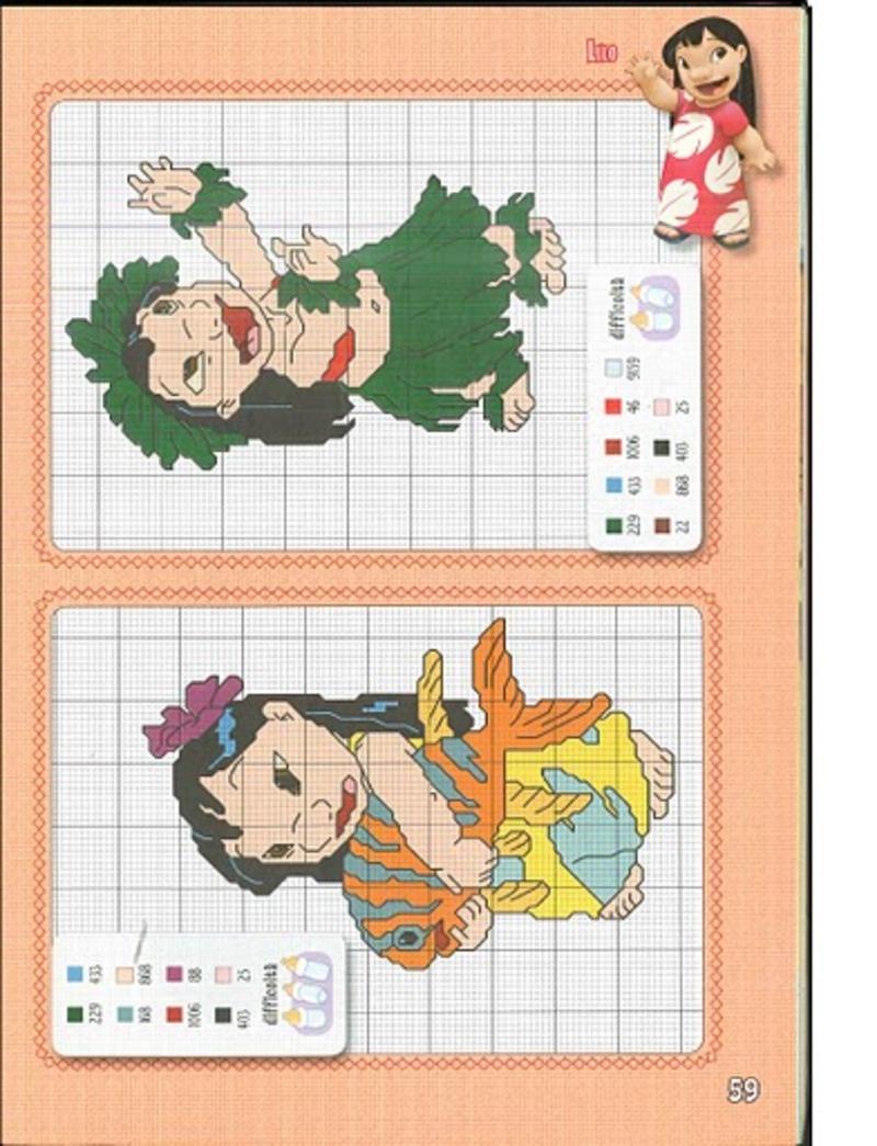 Lilo & Stitch schemi punto croce belli (10)