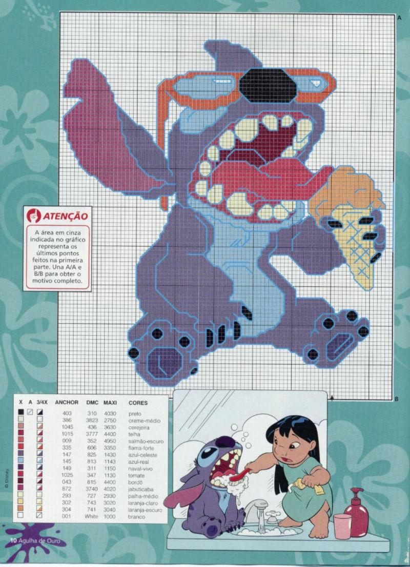 Lilo & Stitch schemi punto croce belli (3)