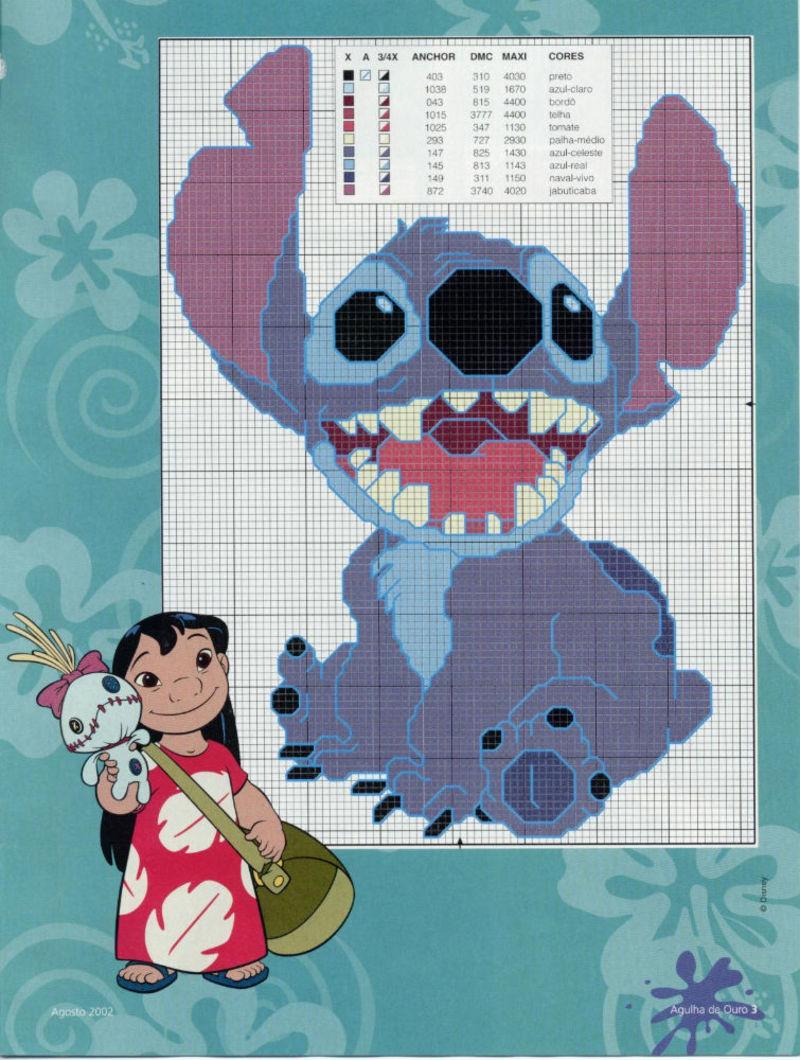 Lilo & Stitch schemi punto croce belli (5)