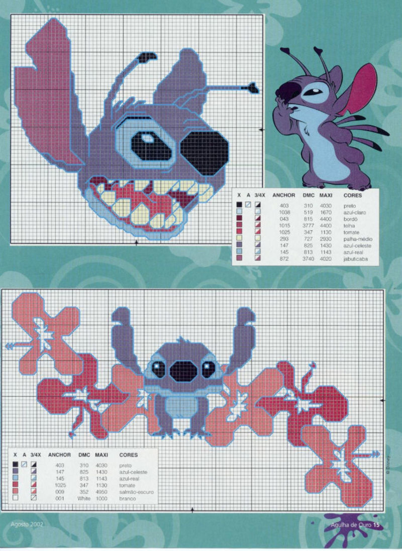 Lilo & Stitch schemi punto croce belli (6)