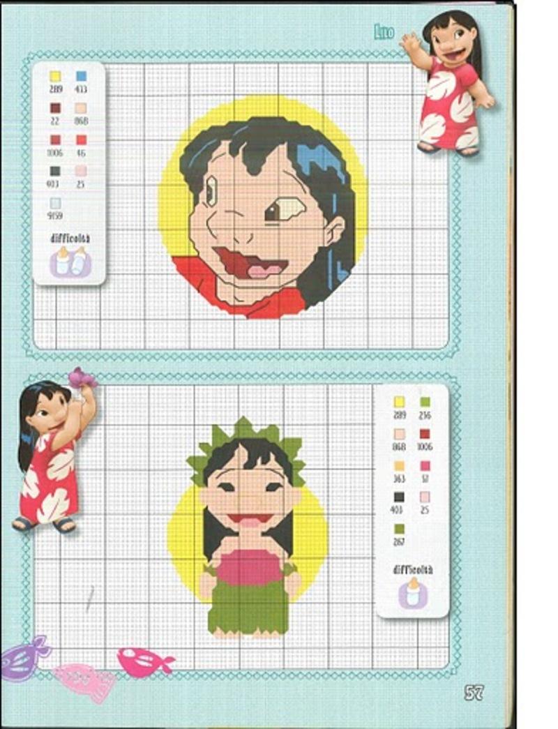 Lilo & Stitch schemi punto croce belli (9)
