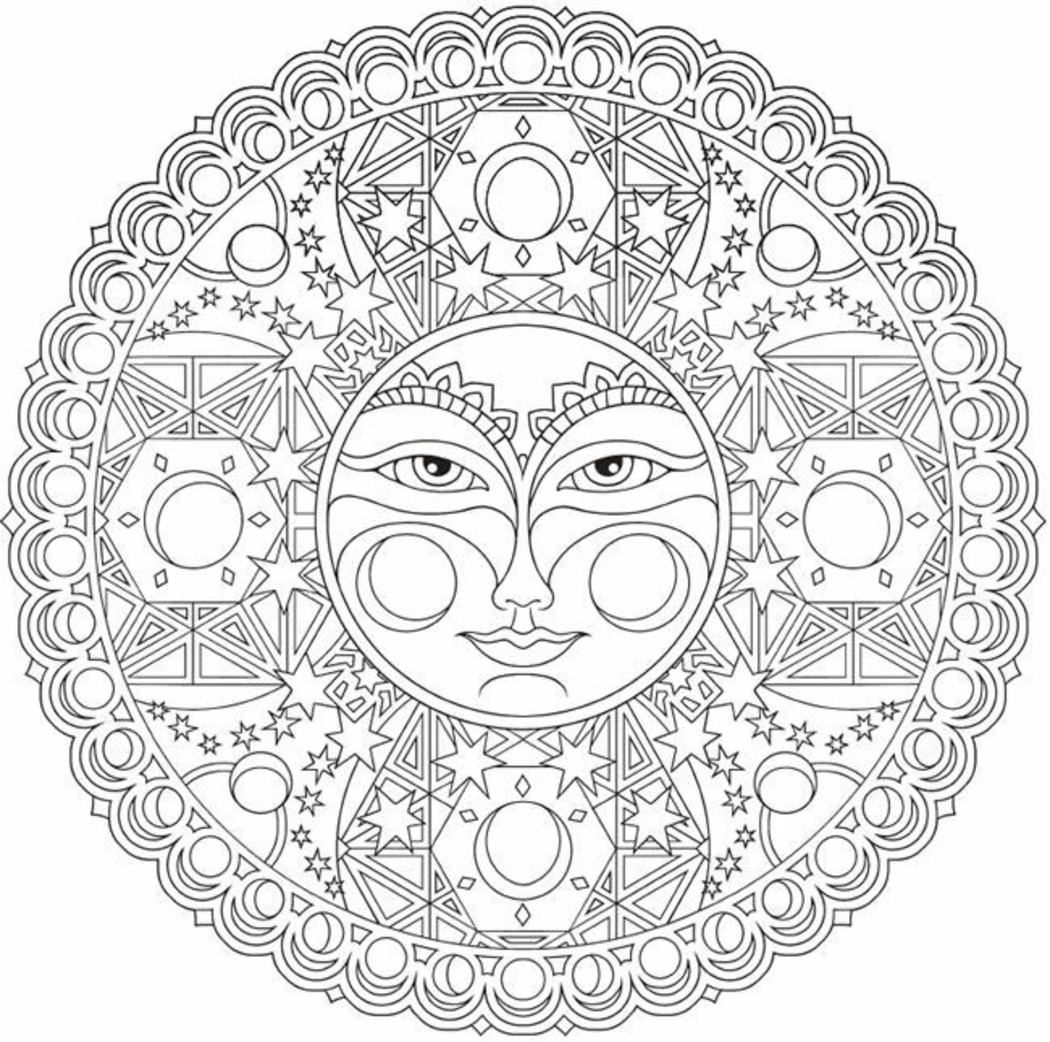 Mandala da colorare difficili 807