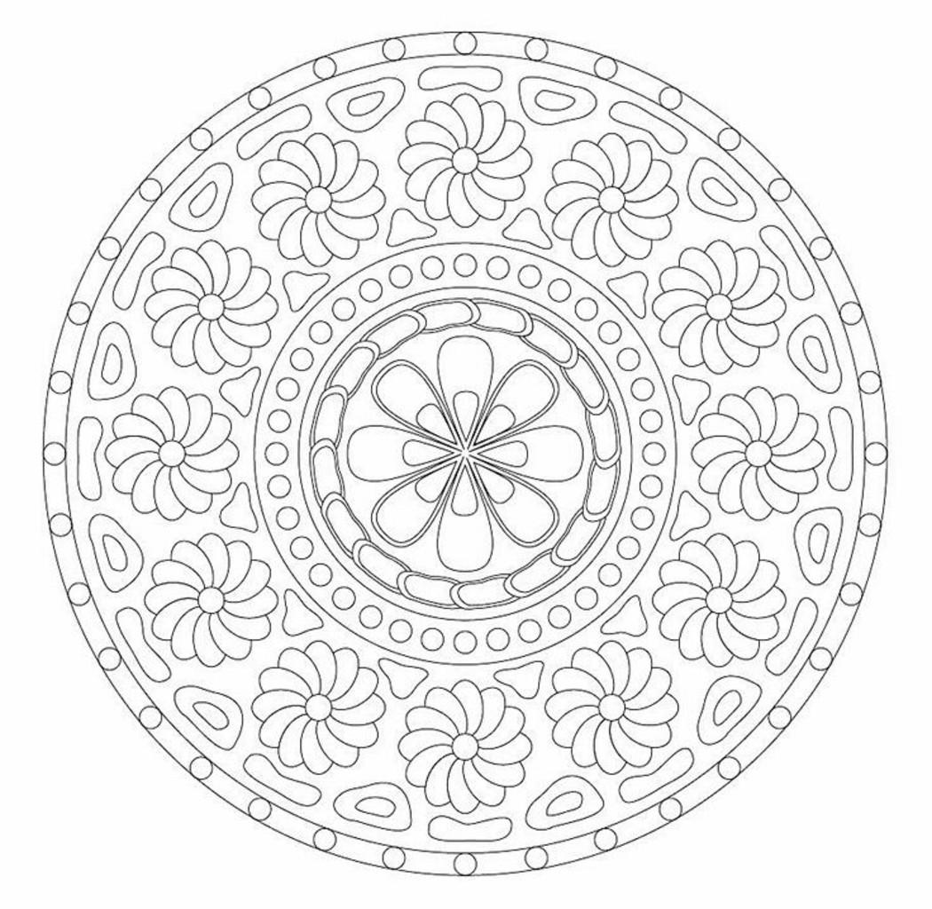 Mandala da colorare difficili 8555