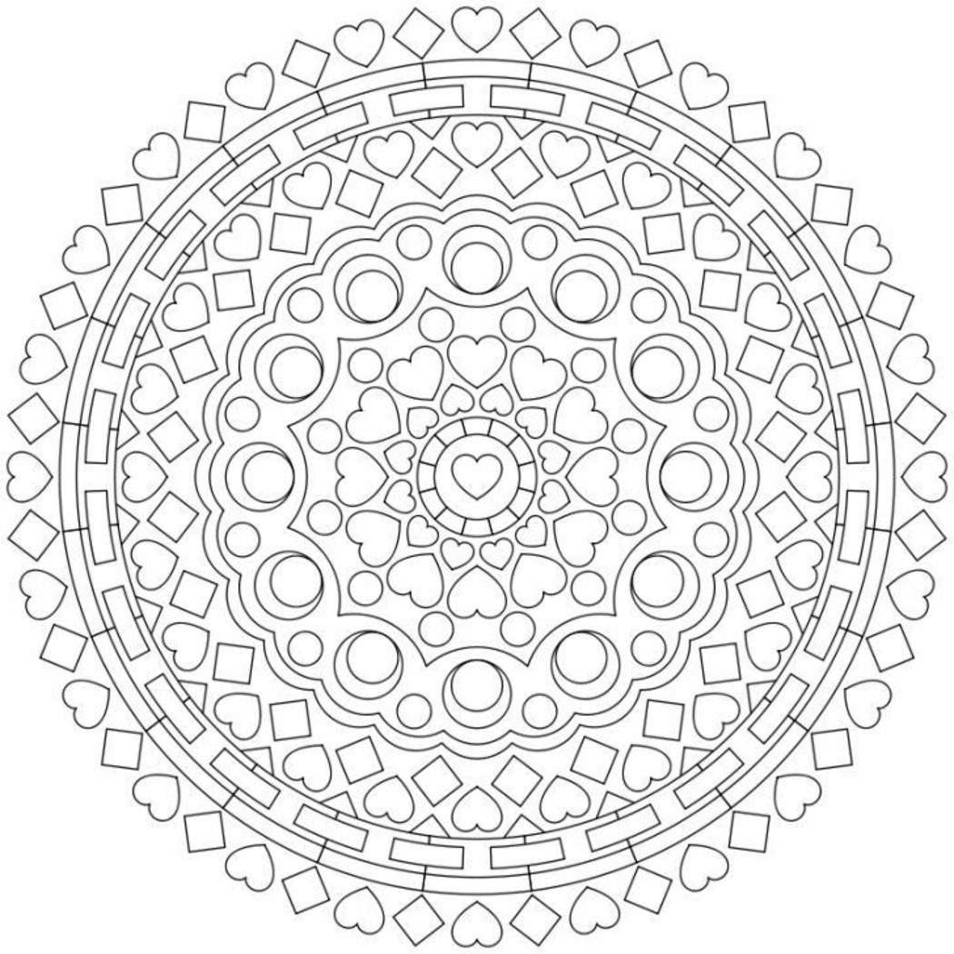 Mandala da colorare gratis 9623