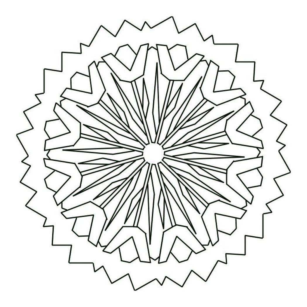 Mandala disegno 3892