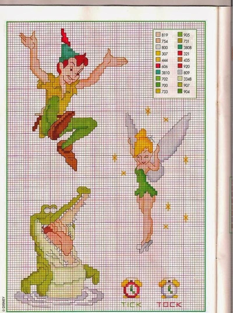 Peter Pan Trilli punto croce