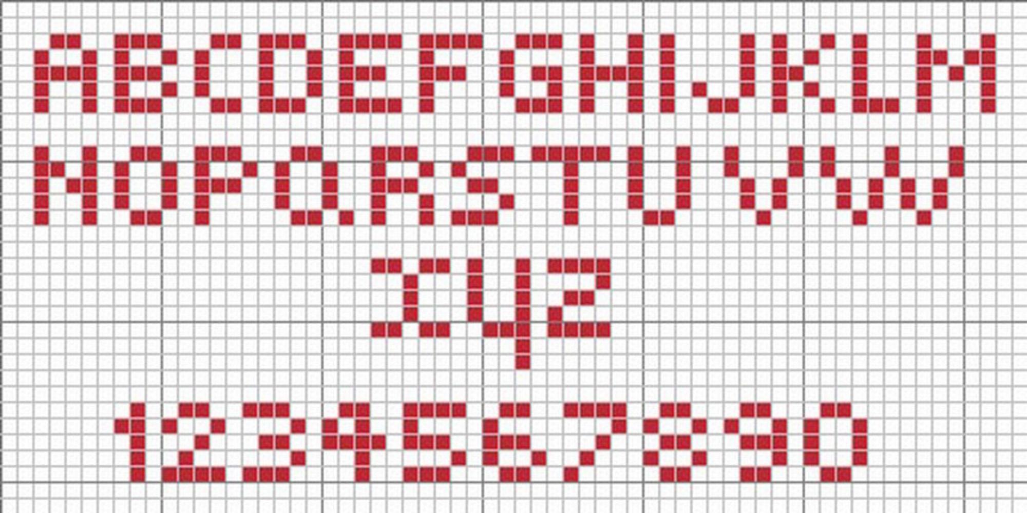 Schema punto croce alfabeto facile piccolo