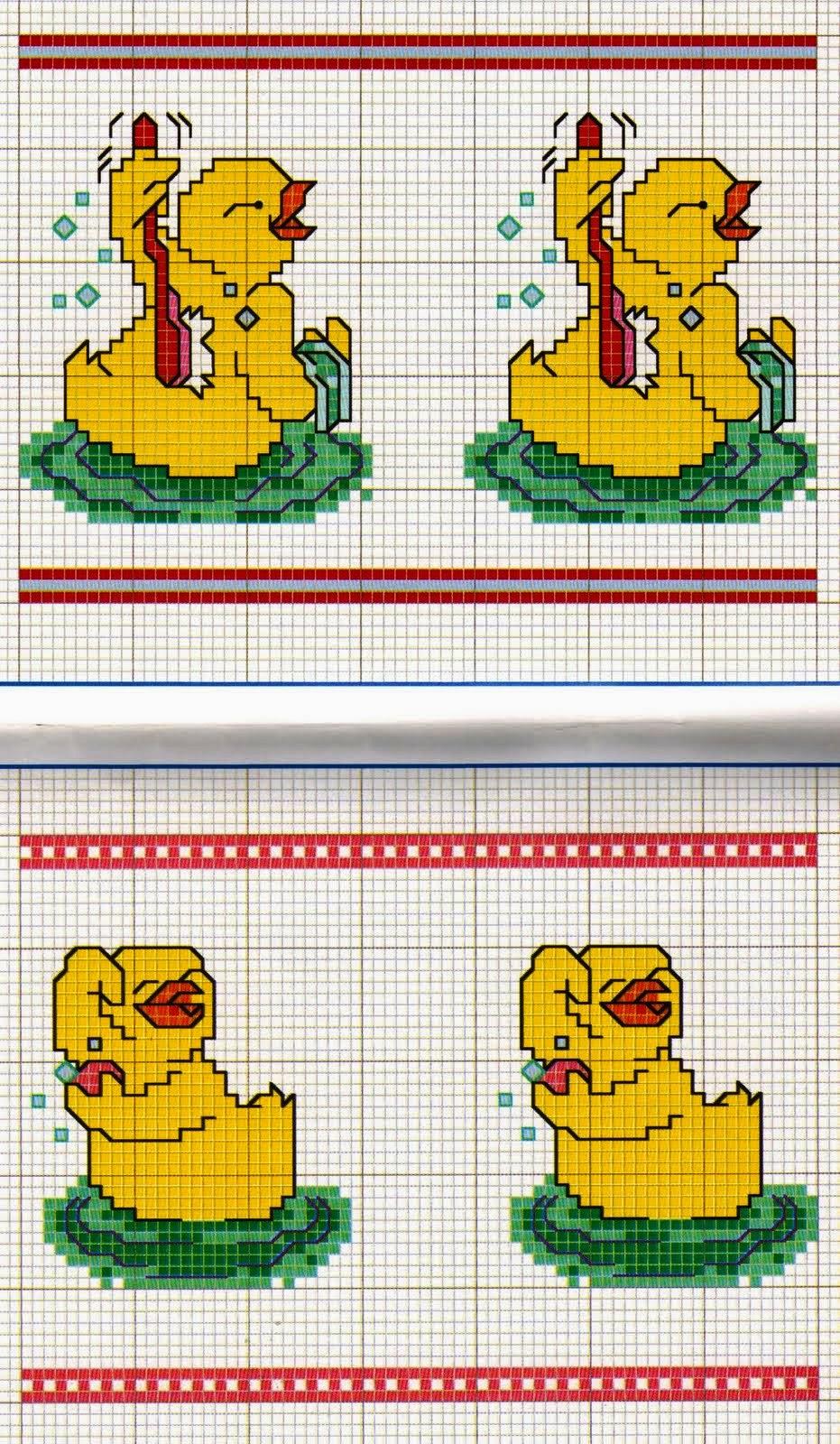 Schemi punto croce piccoli animali per bavaglini 4 for Schemi punto croce animali