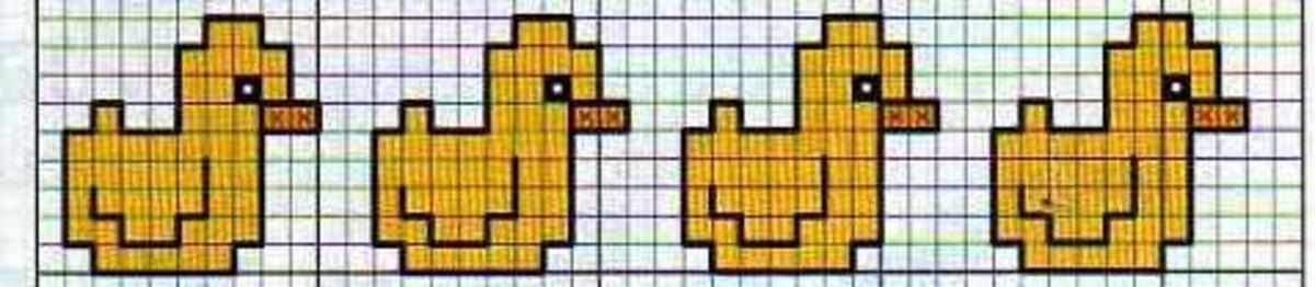 Schemi punto croce semplici per bavaglini 6 for Disegni punto croce per bavaglini