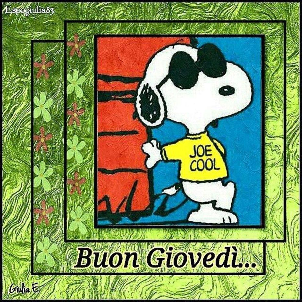 Buon Giovedì Snoopy