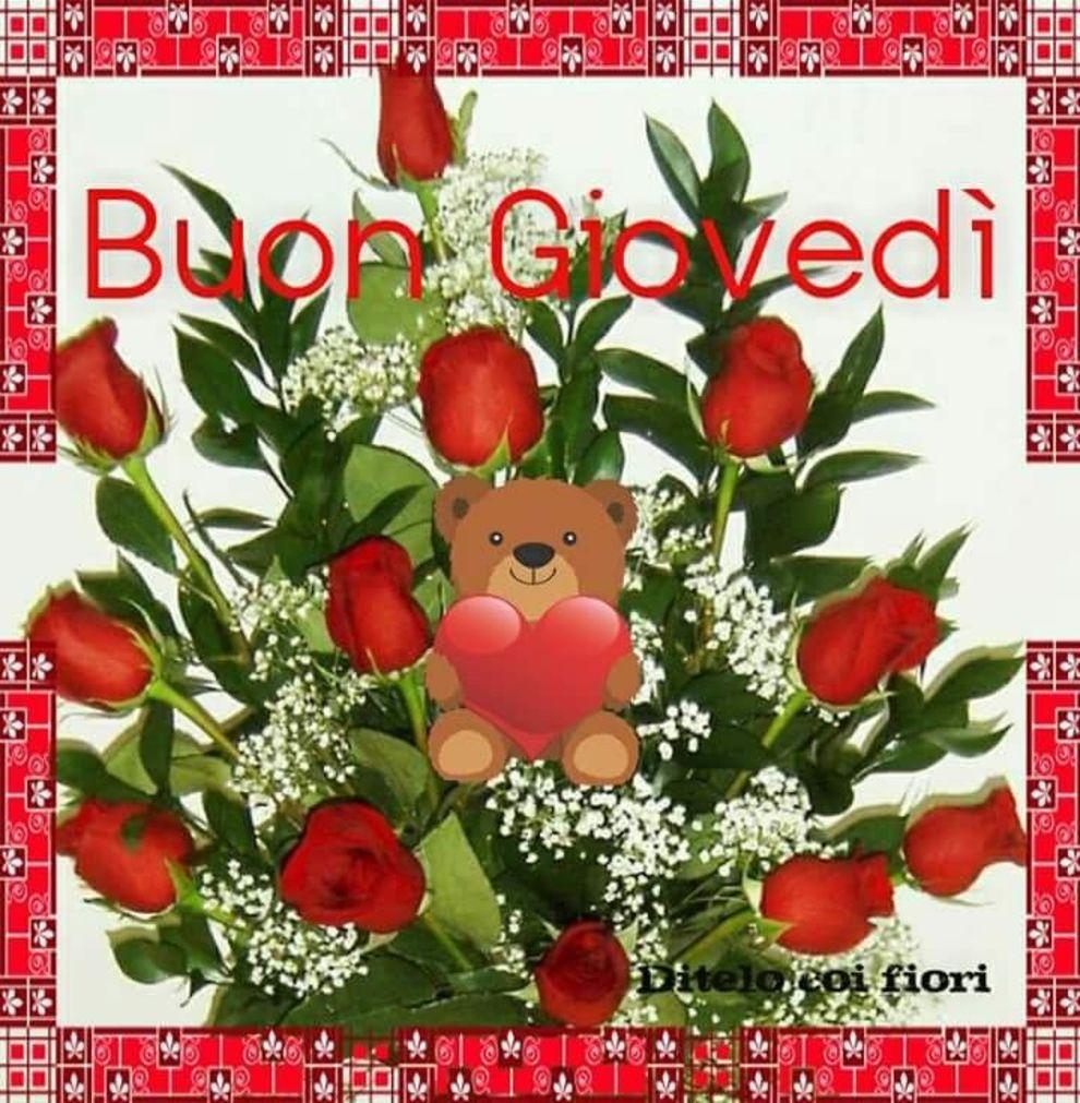Buon Giovedì con le rose rosse