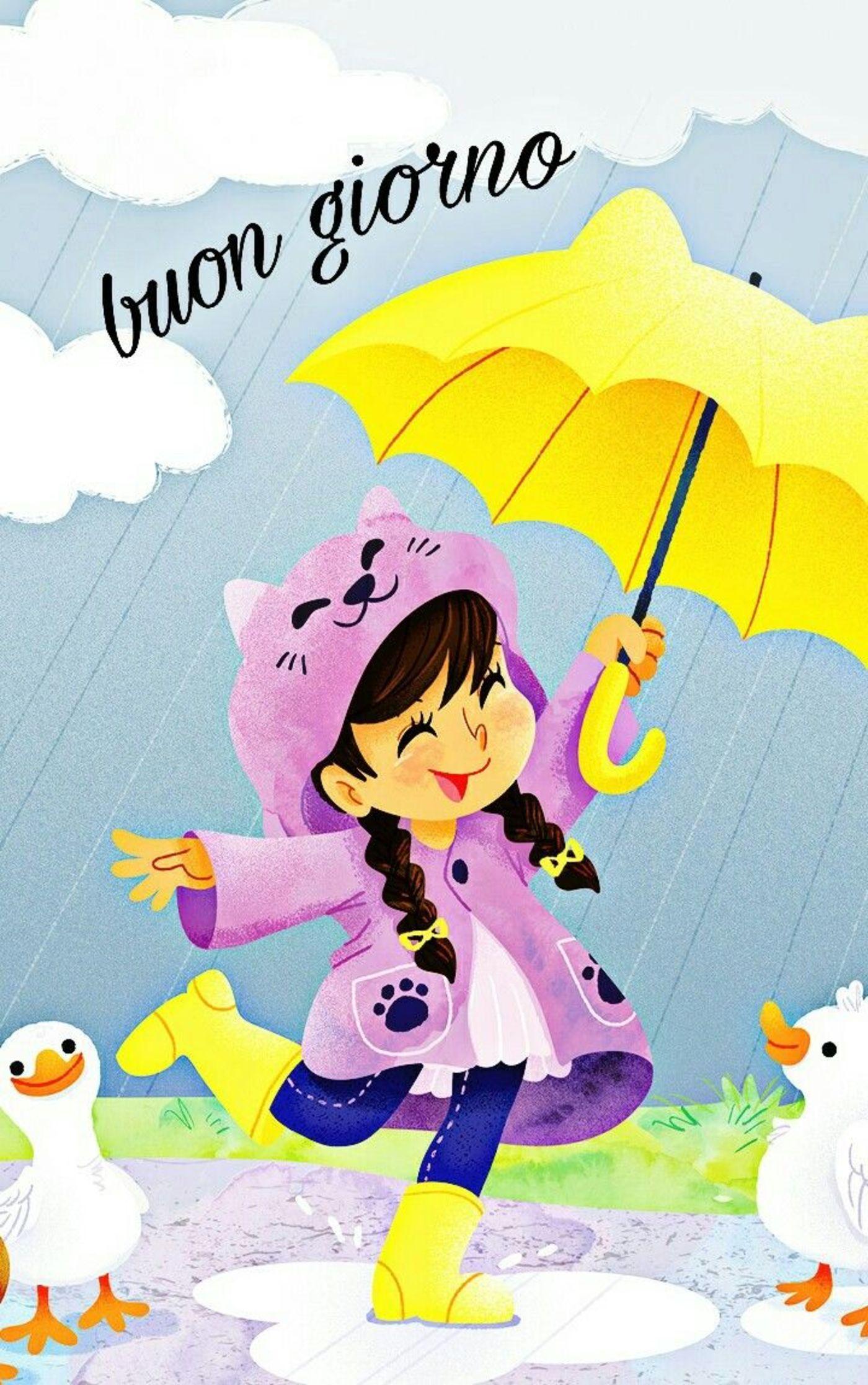 Buongiorno Con La Pioggia Gif Divertenti