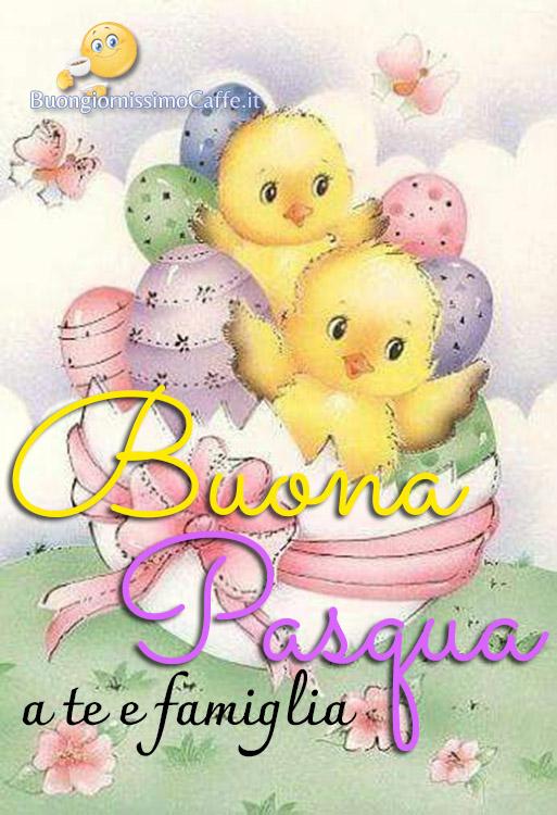 Buona Pasqua a te e famiglia immagini Facebook