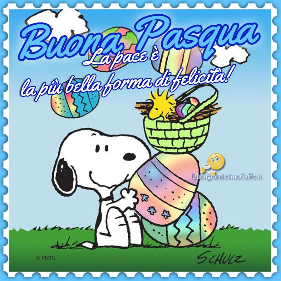Immagini nuove Buona Pasqua Snoopy