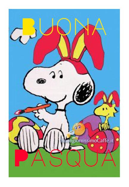 Snoopy Buona Pasqua