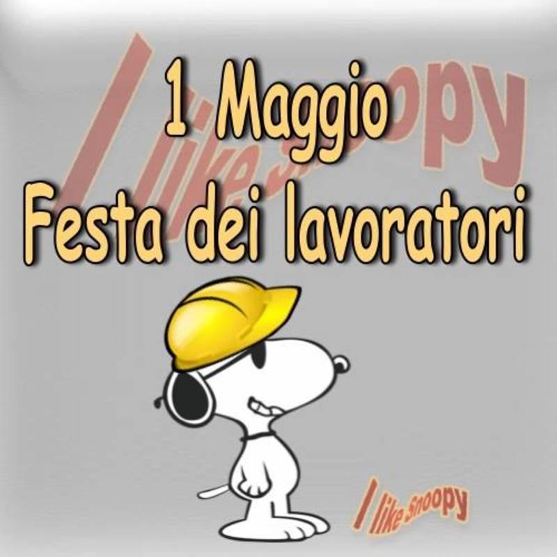 Buon 1 Maggio Snoopy