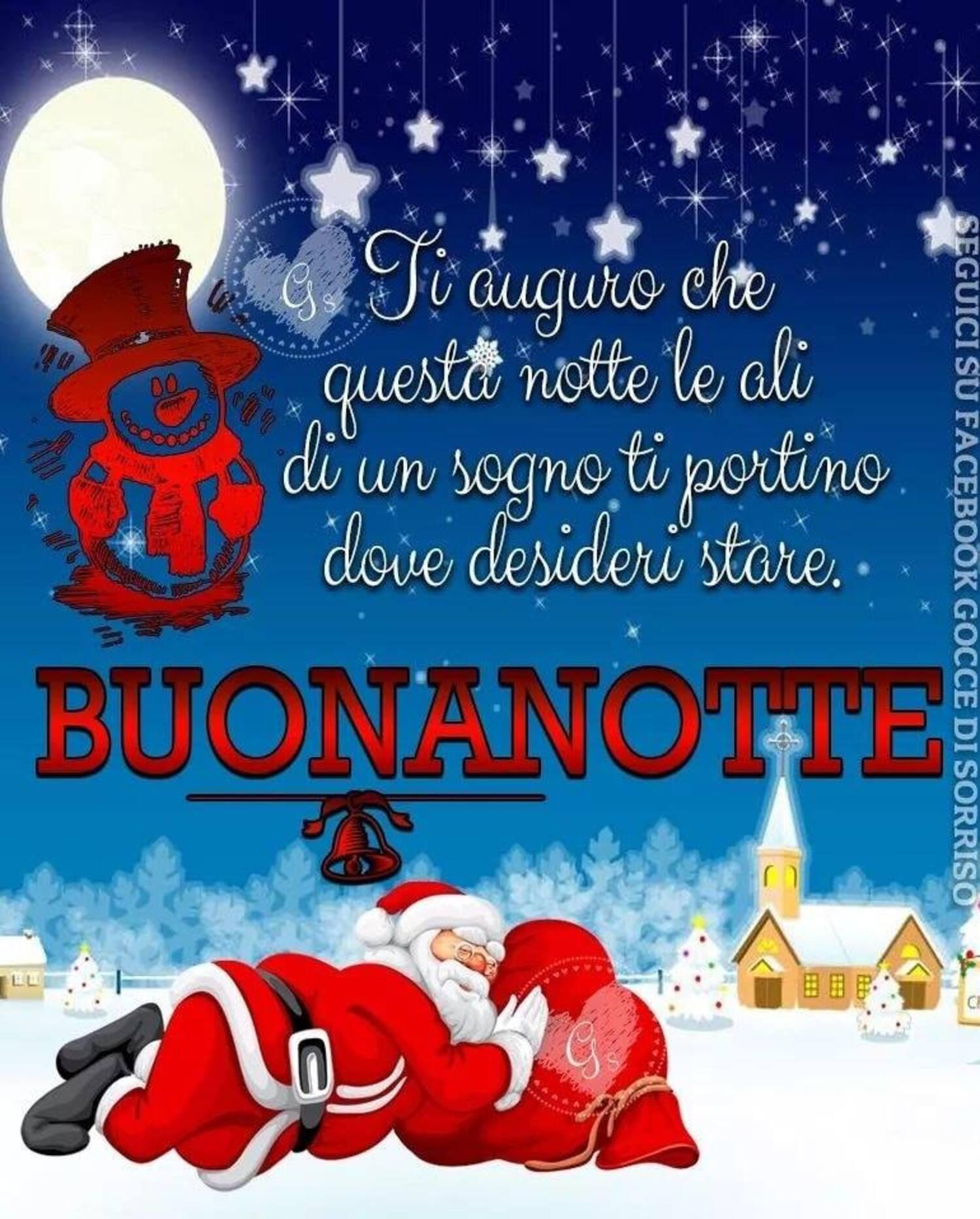 Babbo Natale vi augura la buonanotte