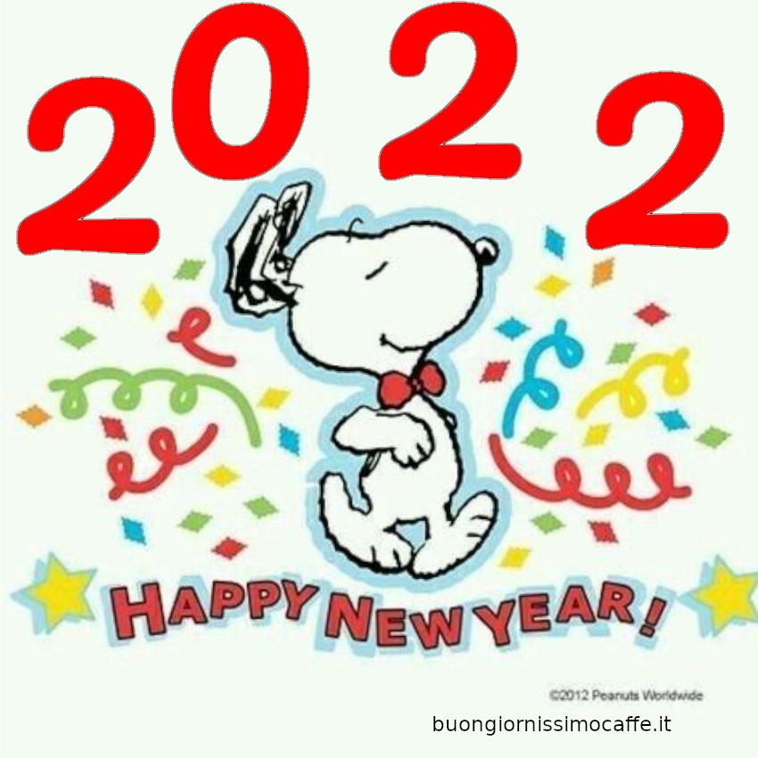 Buon Anno Nuovo 2022 immagini bellissime con Snoopy